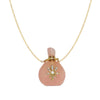 Rose Quarts Bottle Pendant Necklace