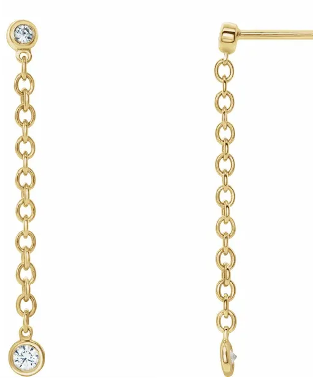 14K Gold Diamond Drip Drops earrings
