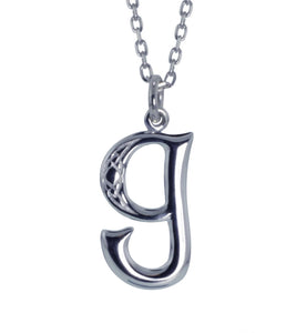 Sterling Silver Initial G Book Of Kells Inspired Pendant