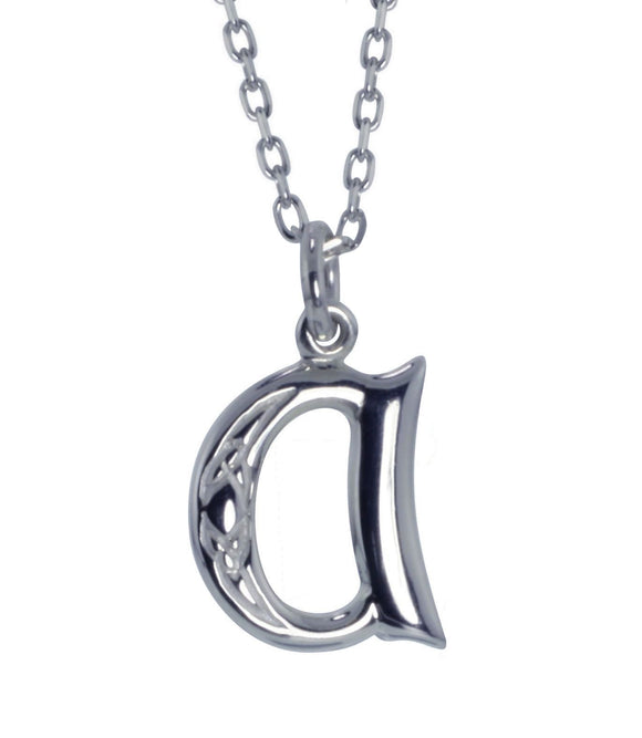 Sterling Silver Initial A Book Of Kells Inspired Pendant