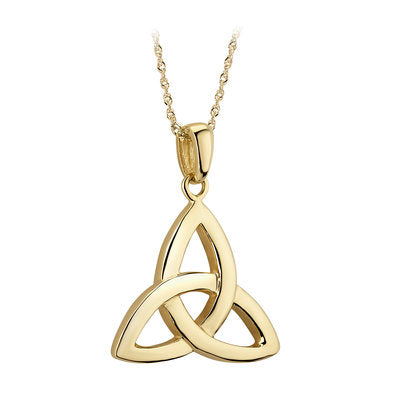 14ct Yellow Gold Celtic Trinty Knot Pendant