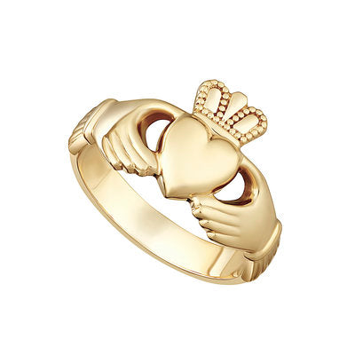Ladies Heavy Gold Claddagh Ring