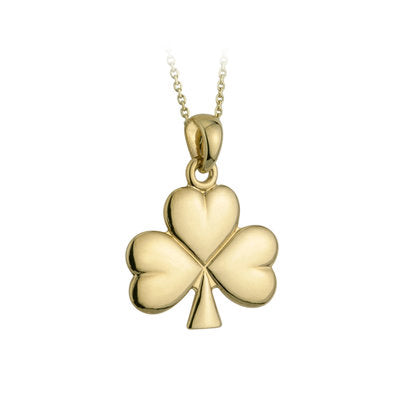 14ct Yellow Gold Shamrock Pendant