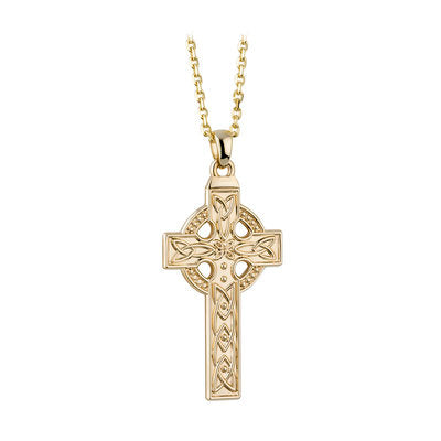 14ct Yellow Gold Celtic Cross