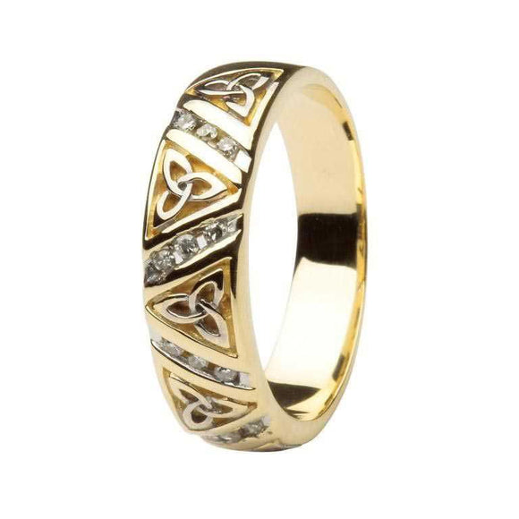 14ct Gold Diamond Trinity Knot Ring