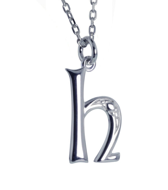 Sterling Silver Initial H Book Of Kells Inspired Pendant