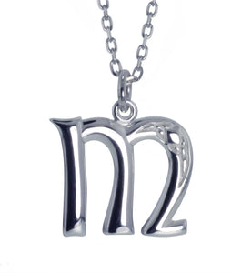 Sterling Silver Initial M Book Of Kells Inspired Pendant