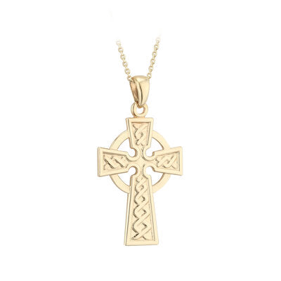 9ct Yellow Gold Celtic Cross