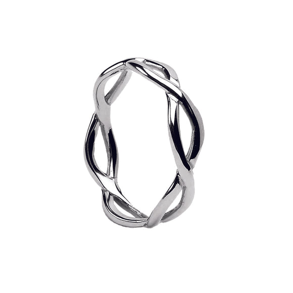 Sterling Silver Ladies Celtic Infinity Wedding Ring