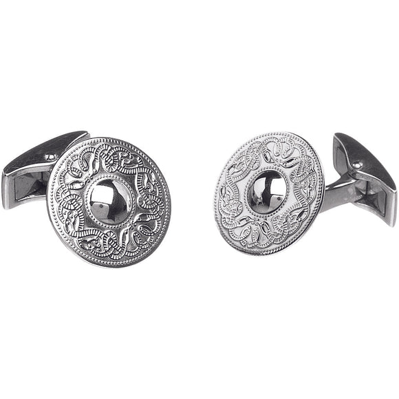 Sterling Silver Celtic Warrior Cufflinks - Small
