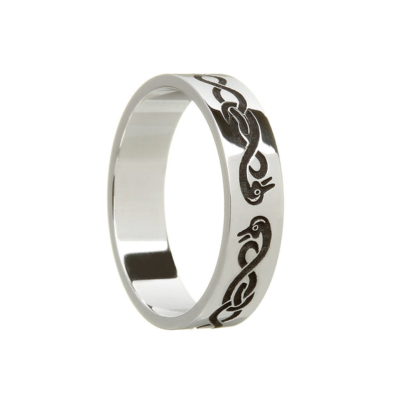 Sterling Silvefr Ladies Le Cheile - Together - Wedding Ring
