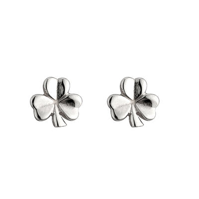 Sterling Silver Shamrock Stud Earrings