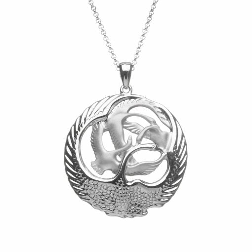 Sterling Silver Children of Lir Swan Pendant