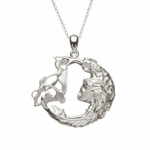Sterling Silver Children Of Lir Open Arms Pendant