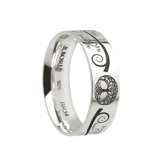 Wide Comfort Fit Tree Of Life Wedding Ring