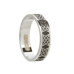Sterling Silver (Oxidised Finish) Ladies Lovers Knot Wedding Ring