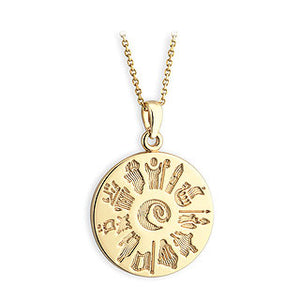 14ct Yellow Gold History Of Ireland Pendant