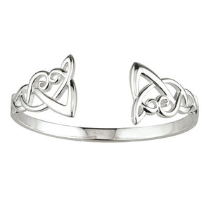 Sterling Silver Celtic Knot Torc Bangle