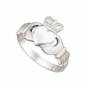 Ladies 14ct White Gold Claddagh Ring