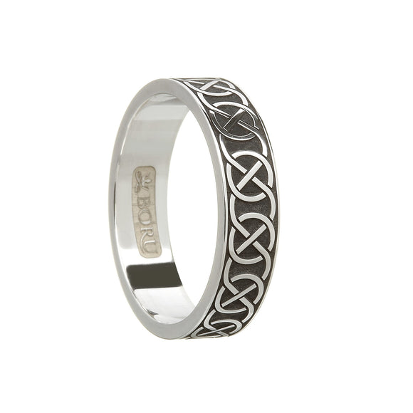 Sterling Silver Ladies Closed Celtic Knot Wedding Ring