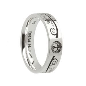 Sterling Silver Comfort Fit Tree Of Life Wedding Ring