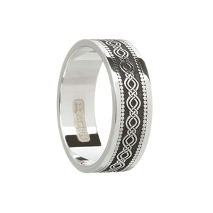 Wide Celtic Pattern Wedding Ring
