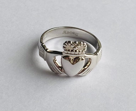 Sterling Silver Claddagh Ring (Size 8.5)