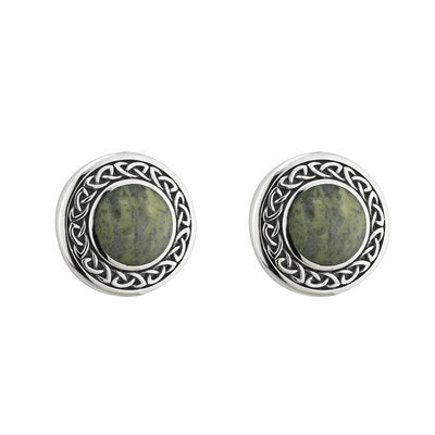 Sterling Silver Connemara Marble Stud Earrings
