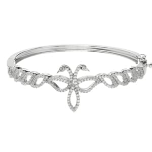 Sterling Silver Zirconia Children Of Lir Bangle