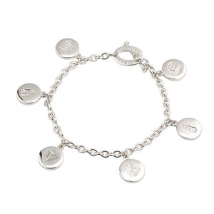 Sterling Silver History Of Ireland Charm Bracelet