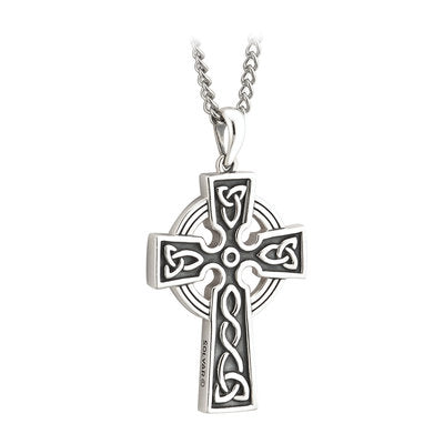 Sterling Silver Double Sided Celtic Cross