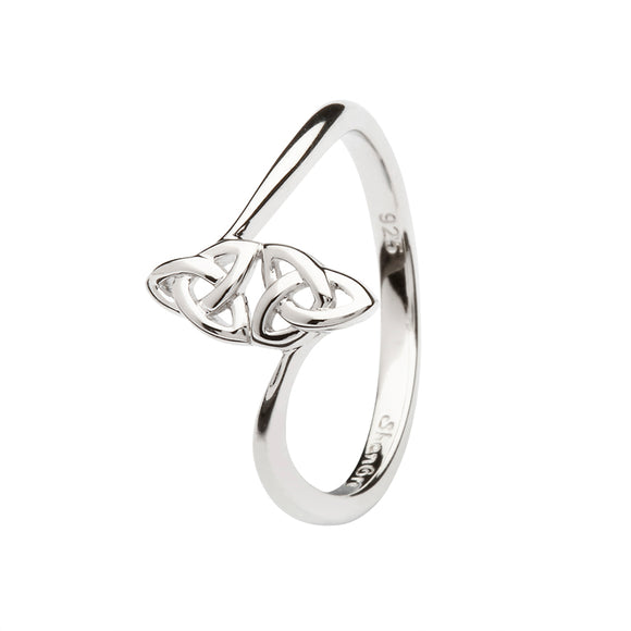 Sterling Silver Double Trinity Knot Ring