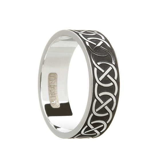 Sterling Silver Men's Closed Celtic Knot Wedding Ring