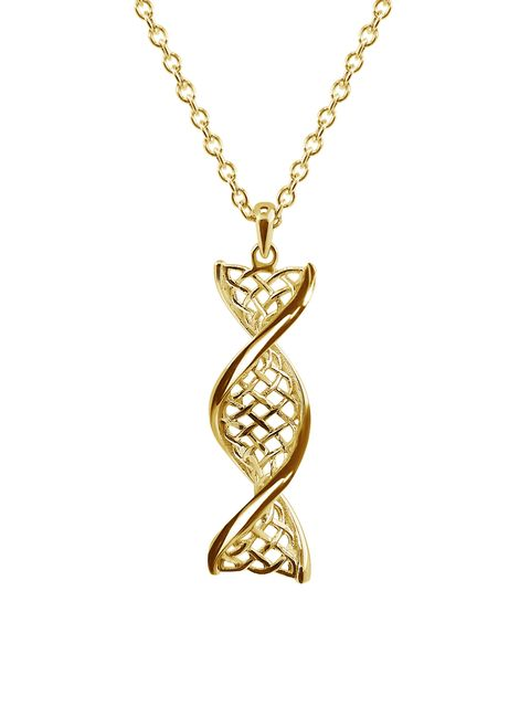 14ct Yellow Gold Celtic DNA Pendant