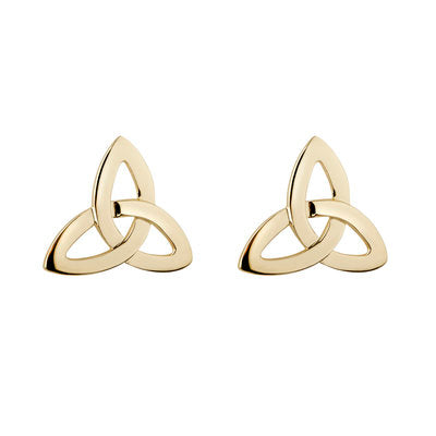10ct Gold Trinity Knot Stud Earrings