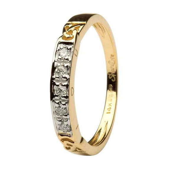14ct Yellow Gold Diamond Celtic Eternity Ring