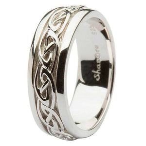 Men's Sterling Silver Celtic Knot Wedding Ring