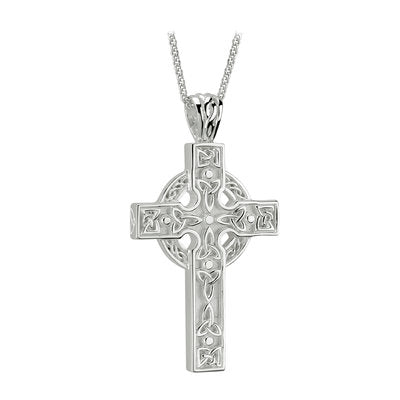 Sterling Silver Large Heavy Celtic Cross