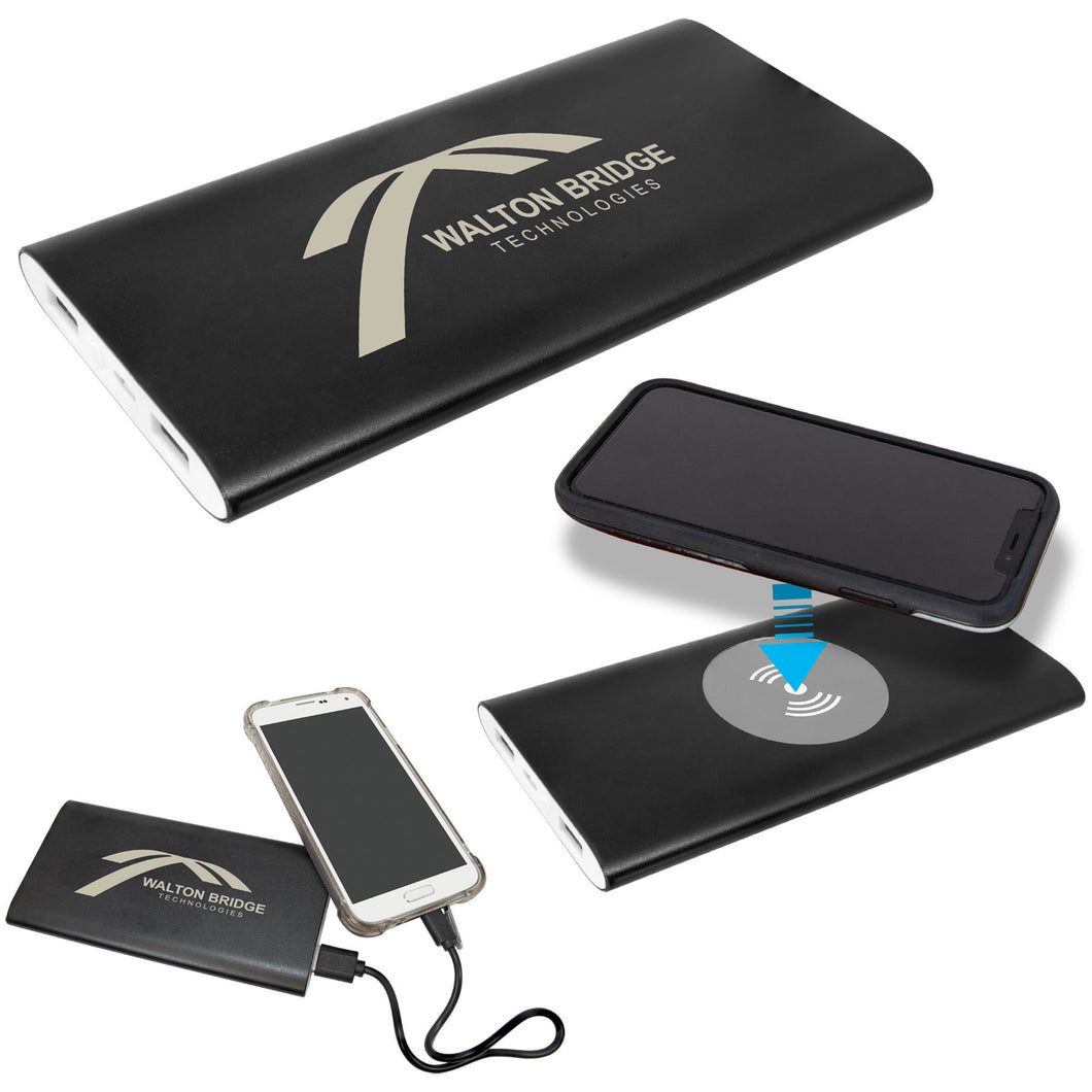 Personalized Power Bank & Wireless Charger