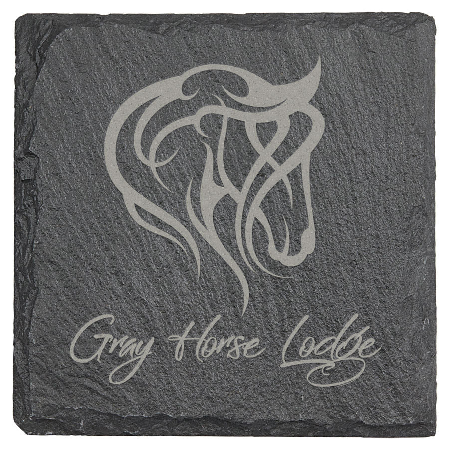 Set of 6 Personalized Slate Coasters