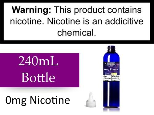 240mL Bottle (0 Nicotine)