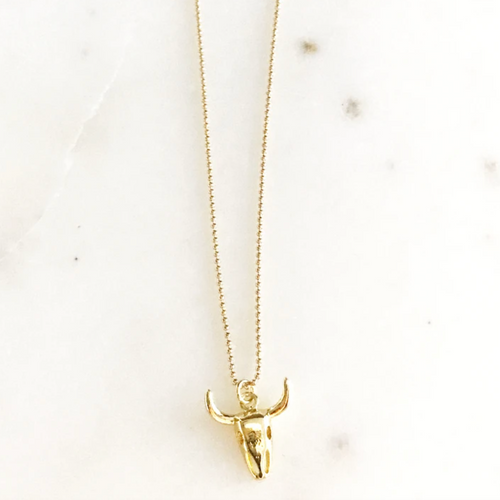 Gold Steer Dainty Necklace