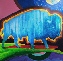 Load image into Gallery viewer, Blue Bison by Charles Lawrance