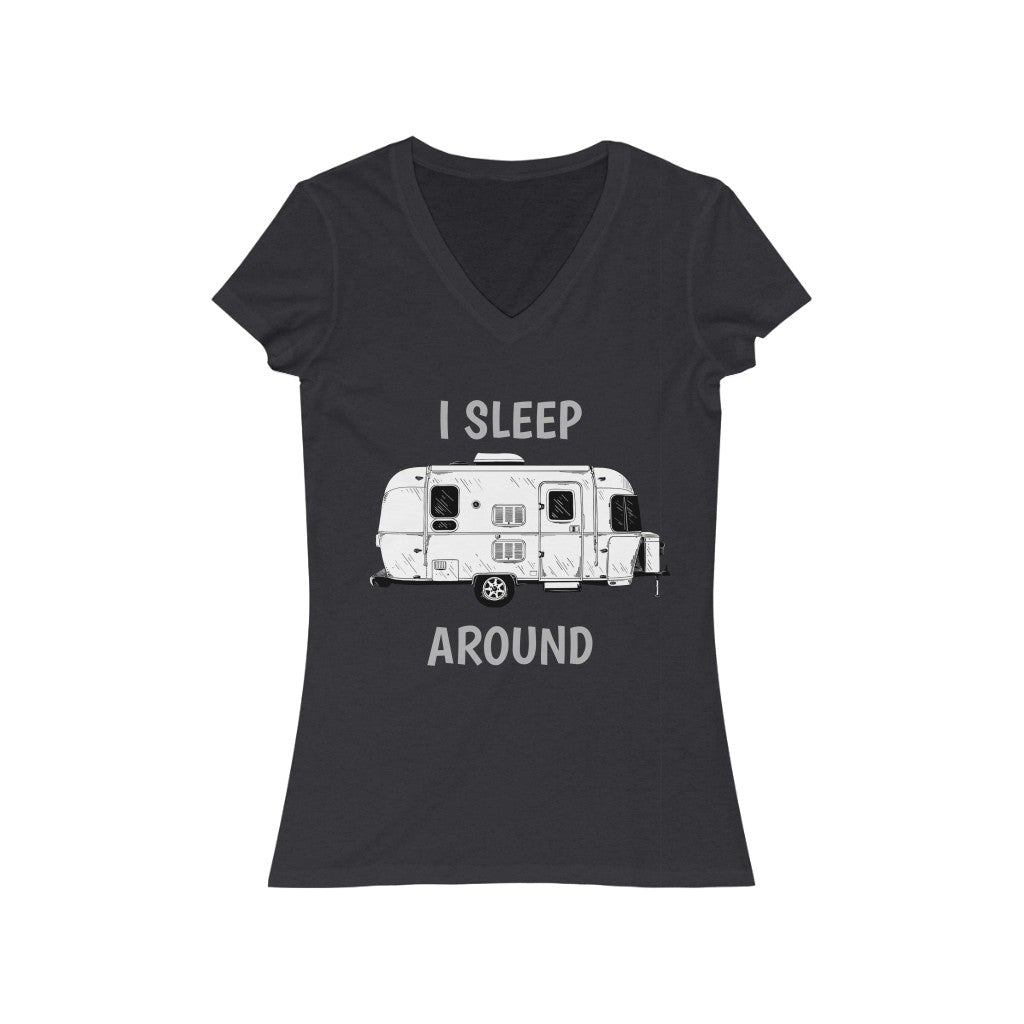 I SLEEP AROUND V-Neck Tee