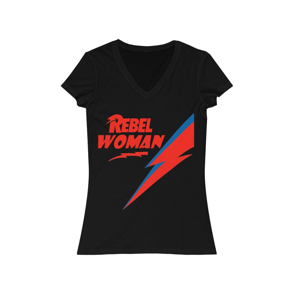 REBEL WOMAN V-Neck Tee