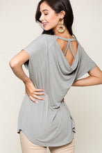 Load image into Gallery viewer, JESSIE Scoop Neckline Cupro Solid Top