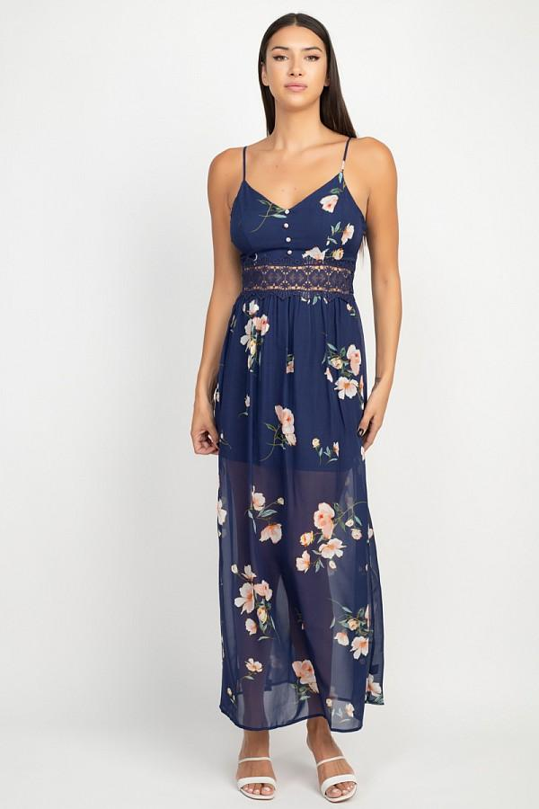 ARIZONA Floral Lace Maxi Dress