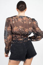 Load image into Gallery viewer, JOSIE Floral V-neck Top
