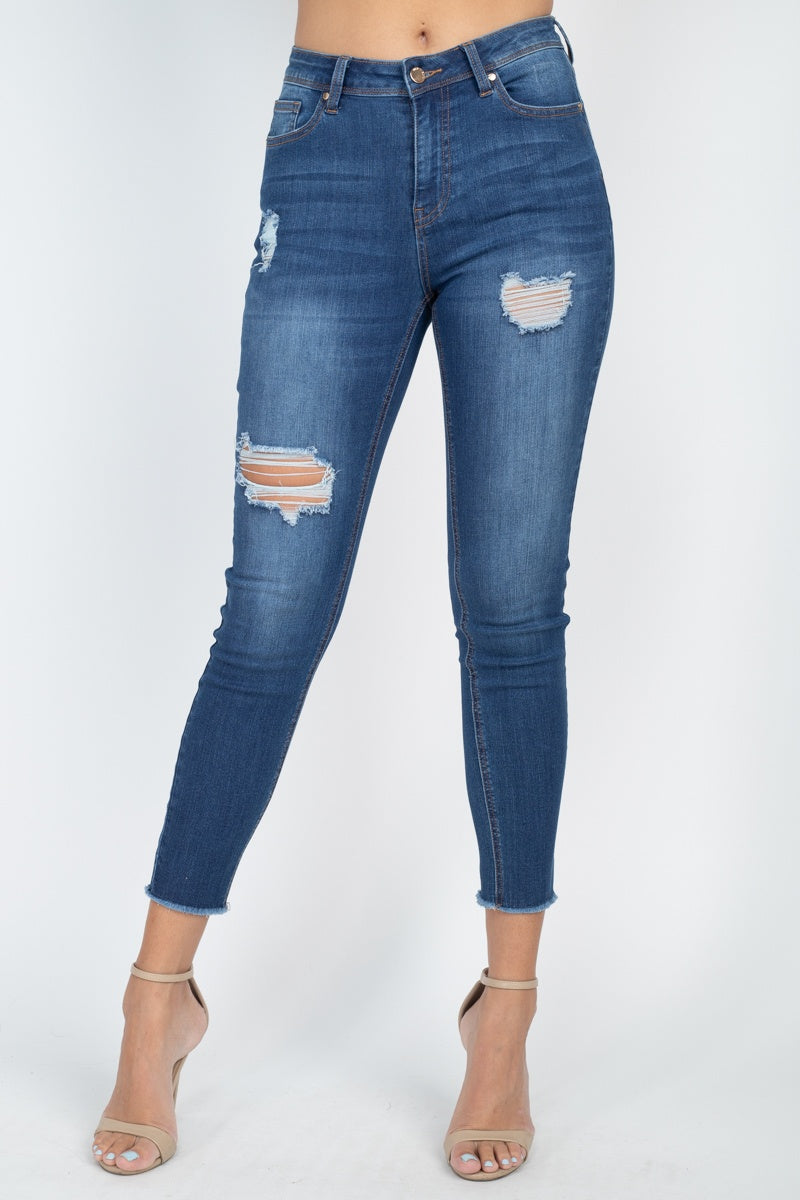 VINCENT Five Pocket Capri Denim Jeans