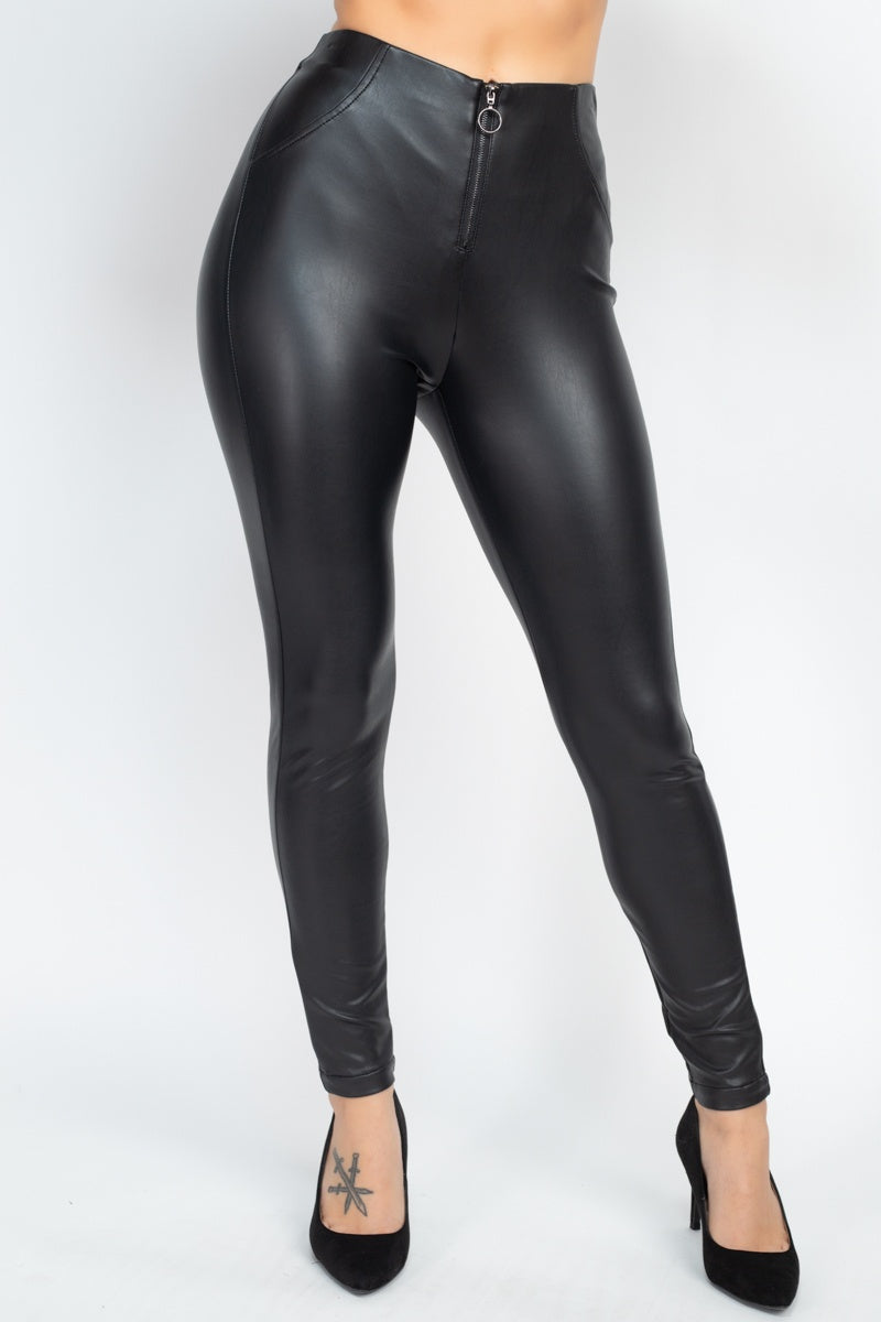 STENNA Faux Leather Skinny Pants